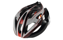 Cratoni C-Bolt Casque noir-rouge-blanc brillant